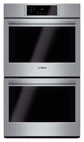 """Bosch - 800 Series 30"""" Built-In Double Electric Convection Wall Oven - Stainless Steel - Larger Front"""