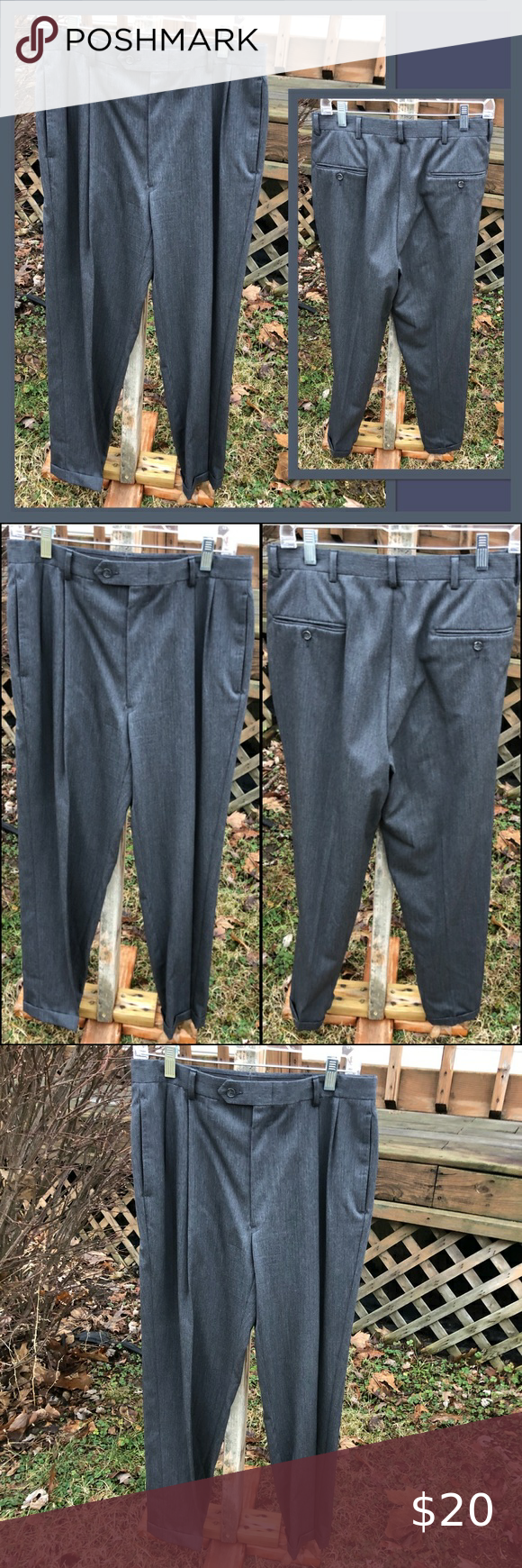 Austin Reed Cuffed Charcoal Trousers Euc In 2020 Dress Slacks Austin Reed Trousers