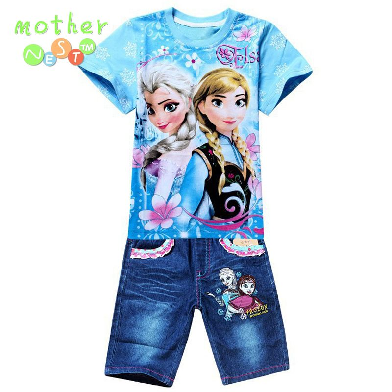 105690a3a Retail New 2017 Boys Summer Clothing Sets Children Cartoon Cotton Short  Sleeve T Shirt+ Jeans 2pcs Suit Kids Clothes In stock