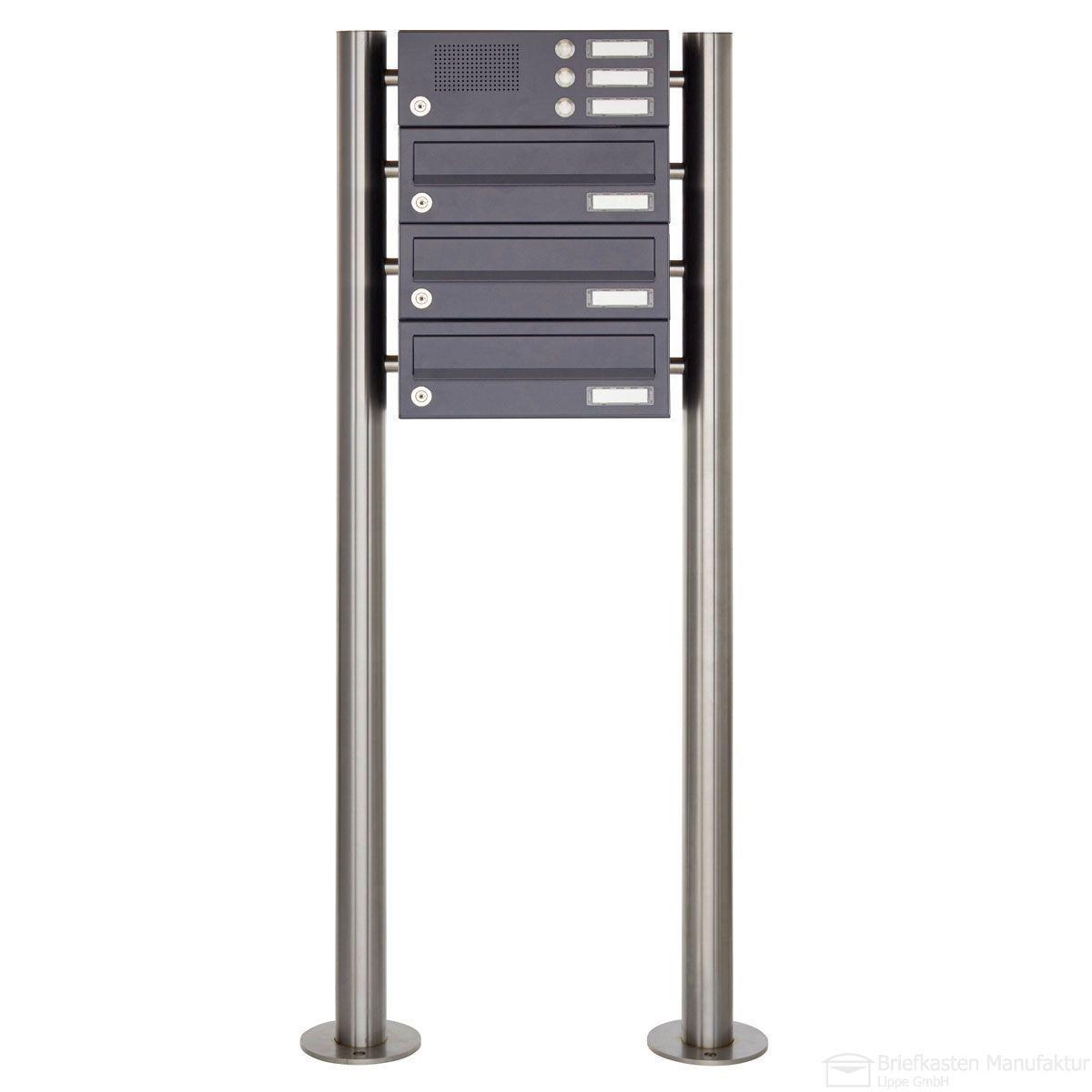 Zaunbriefkasten Mit Klingel standbriefkasten design basic 385 7016 sp mit klingel sprechteil