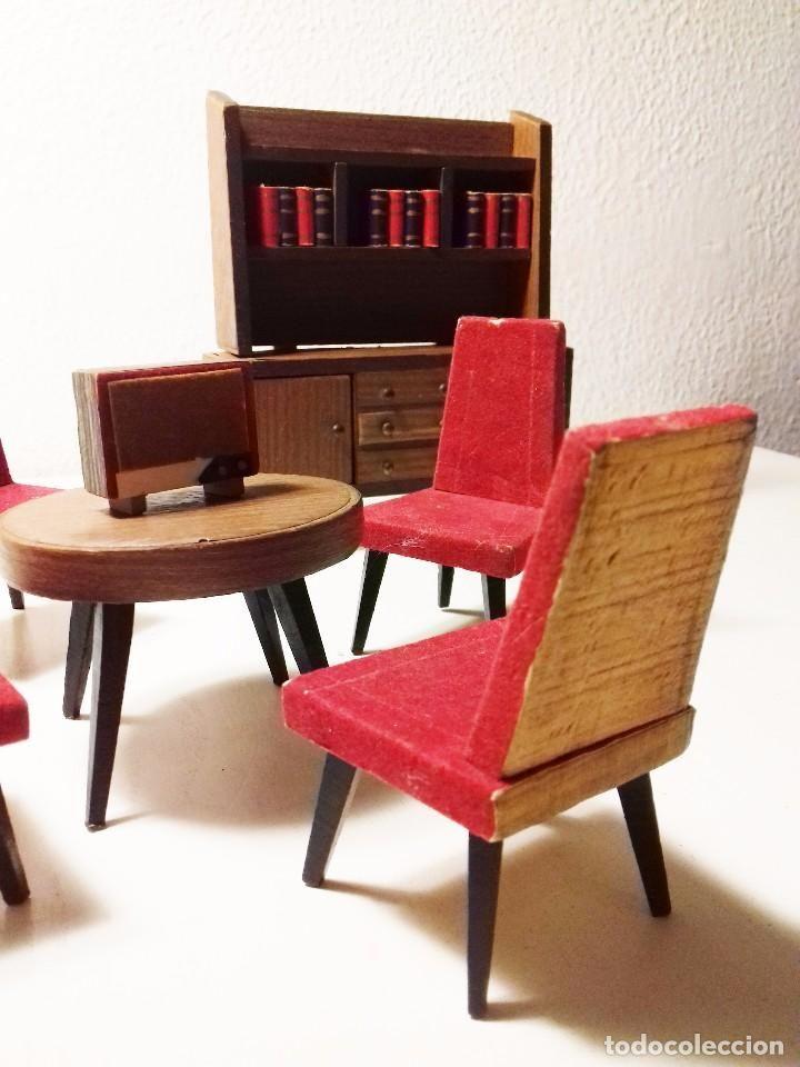 Juego de comedor artesanal casa de muñecas estilo años 50 | Juegos ...