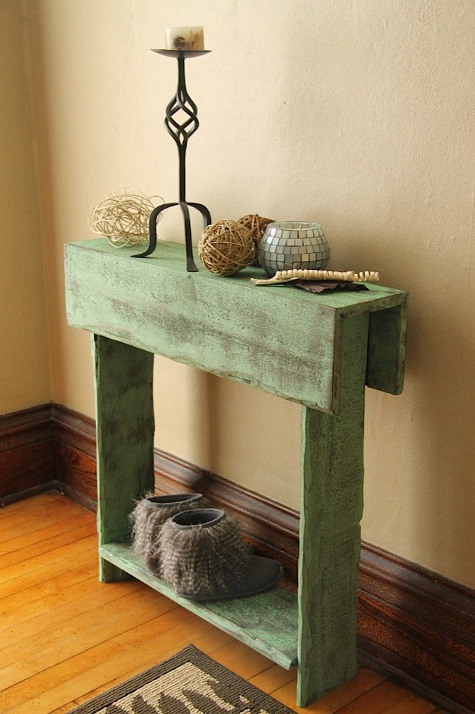 Rustic Entry Table Reclaimed Wood Table Entry By