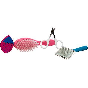 Ware Groom N Kit Small Animal Grooming Kit Petco 8 Contains Shedding Brush Soft Brush Nail Clippers And A Chew Small Pets Grooming Kit Grooming