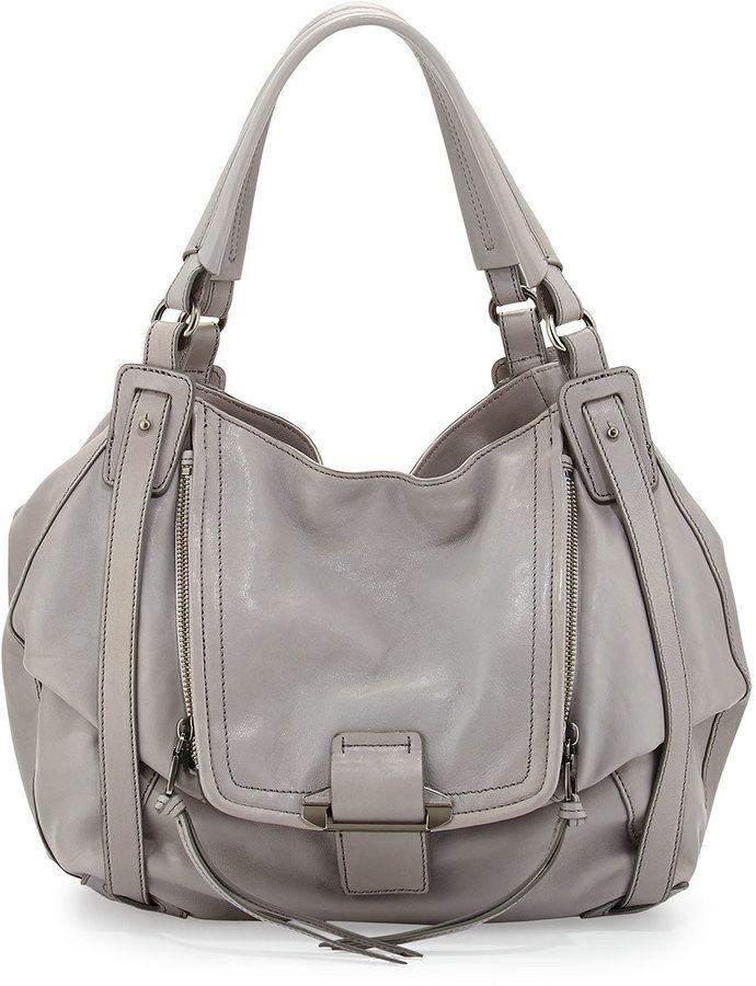 ca58ac987 Kooba Jonnie Leather Hobo Bag, Light Gray | Accessorizing Baggage ...