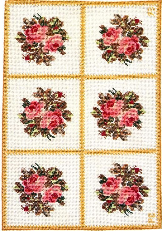 miniature needlework (rose rug color example)