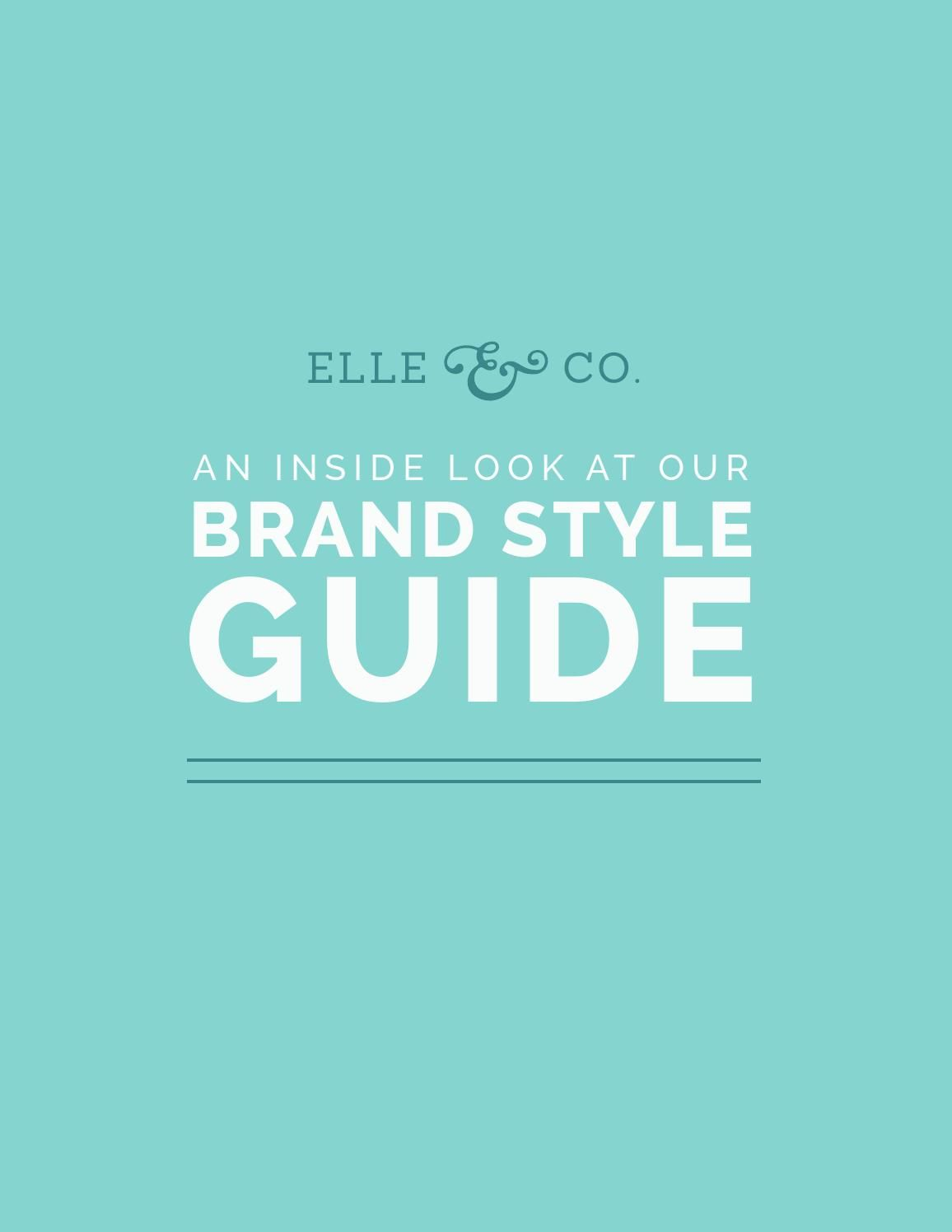 Elle Amp Company Brand Style Guide