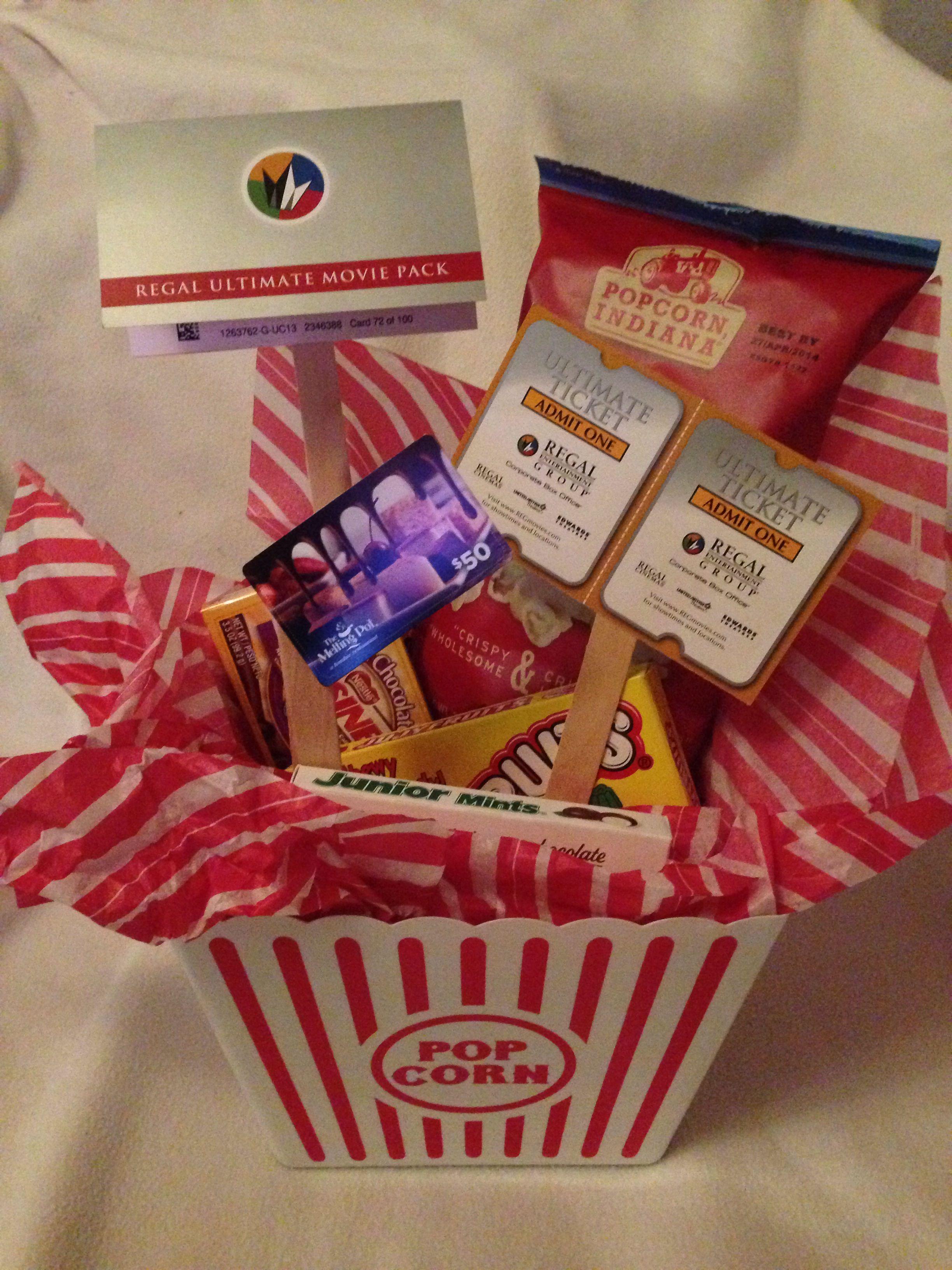 Dinner A Movie Gift Movie Theater Snacks Bag Of Popcorn Dinner