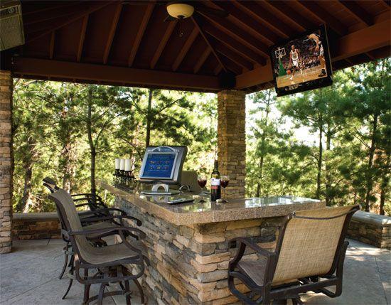 Outdoor Cabana   Backyard bar, Outdoor cabana, Diy outdoor bar
