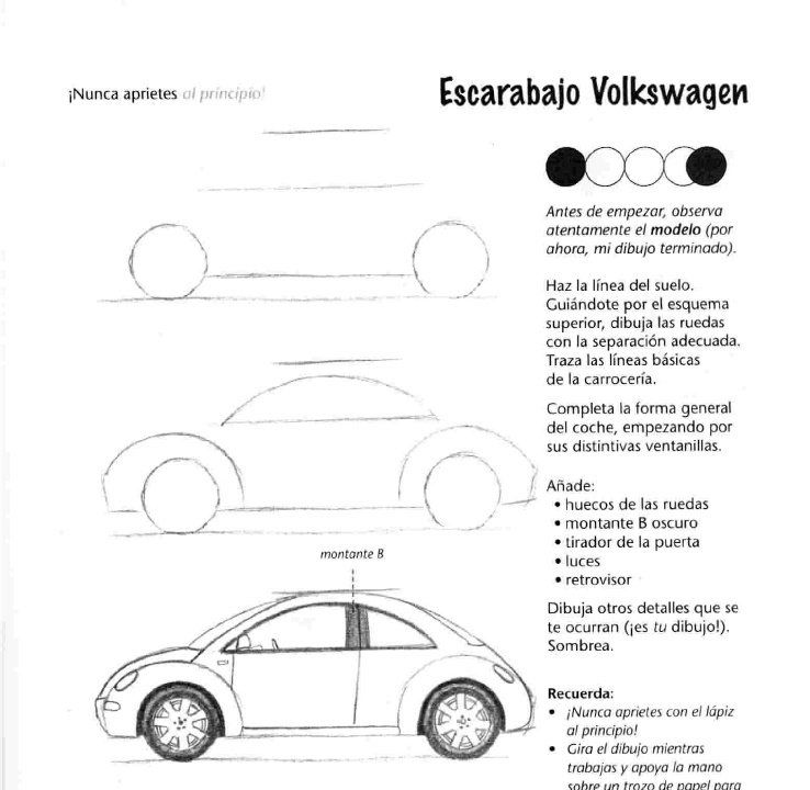 Como Dibujar Autos Paso A Paso Taringa Car Drawings Drawing Machine Art Lessons