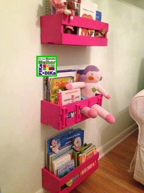 20 ideias para usar caixotes na decora u00e7 u00e3o do quarto das DIY Bookshelf Ideas DIY Storage