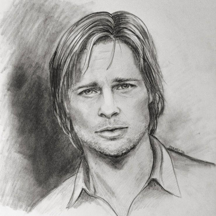 Brad Pitt Retratos Dibujos Fotos