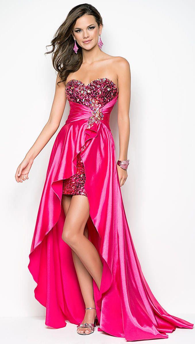 Hot pink homecoming dress  prom dress prom dresses  Prom  Pinterest  Dress prom Prom and
