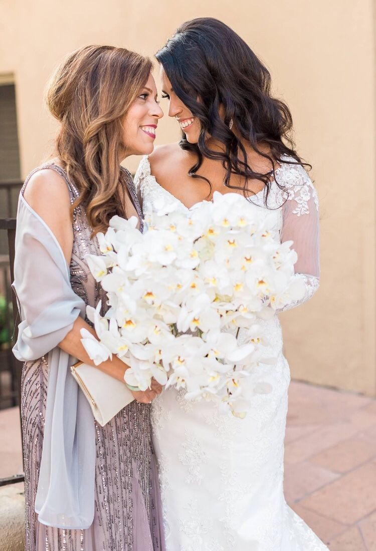 Wedding Wednesday: Love by the Sea | Brunette bride, Orchid bouquet ...