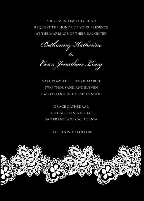 Simple Black Wedding Invitations Archives