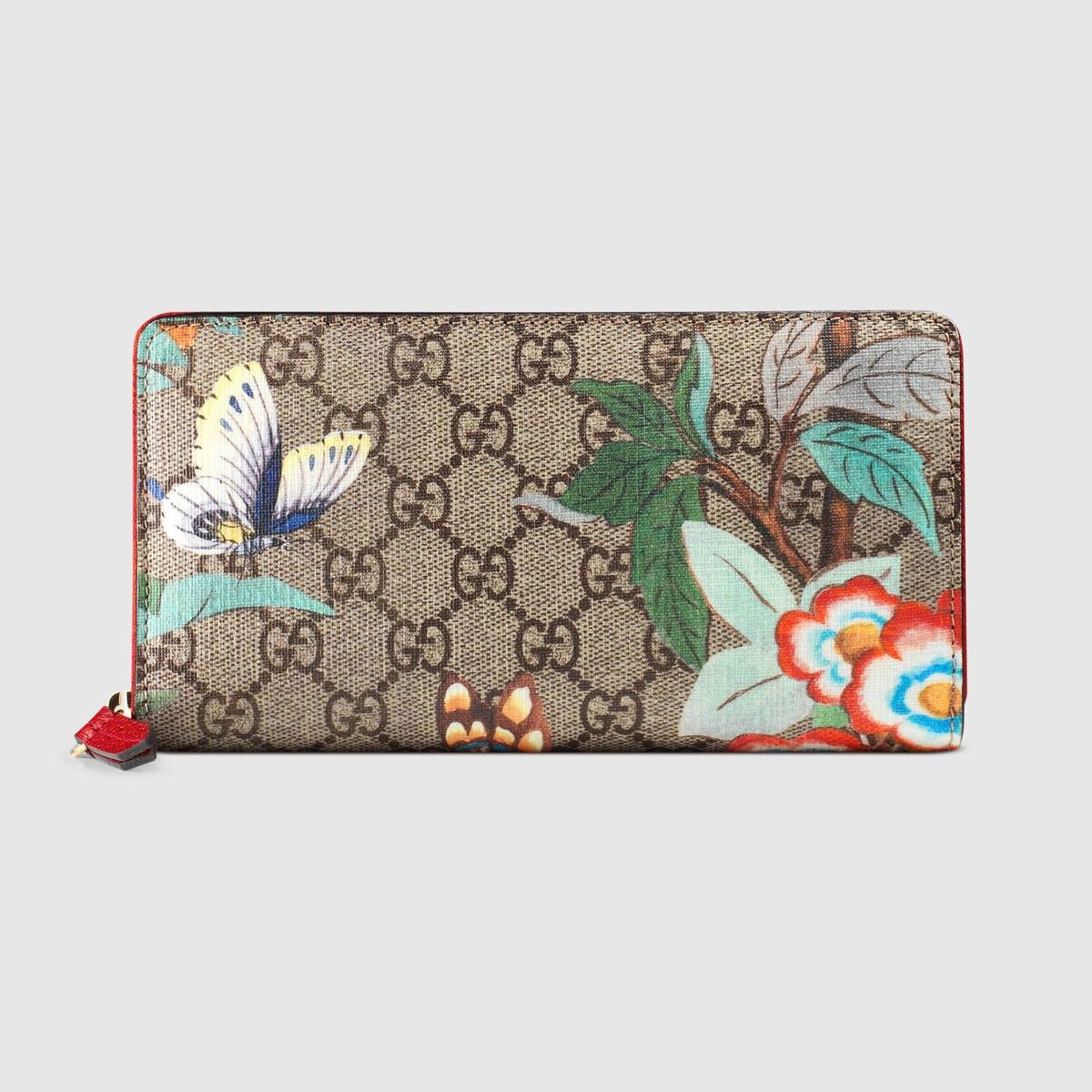 ffded208525 GUCCI Gucci Tian Zip Around Wallet - Gg Supreme Tian.  gucci  all ...