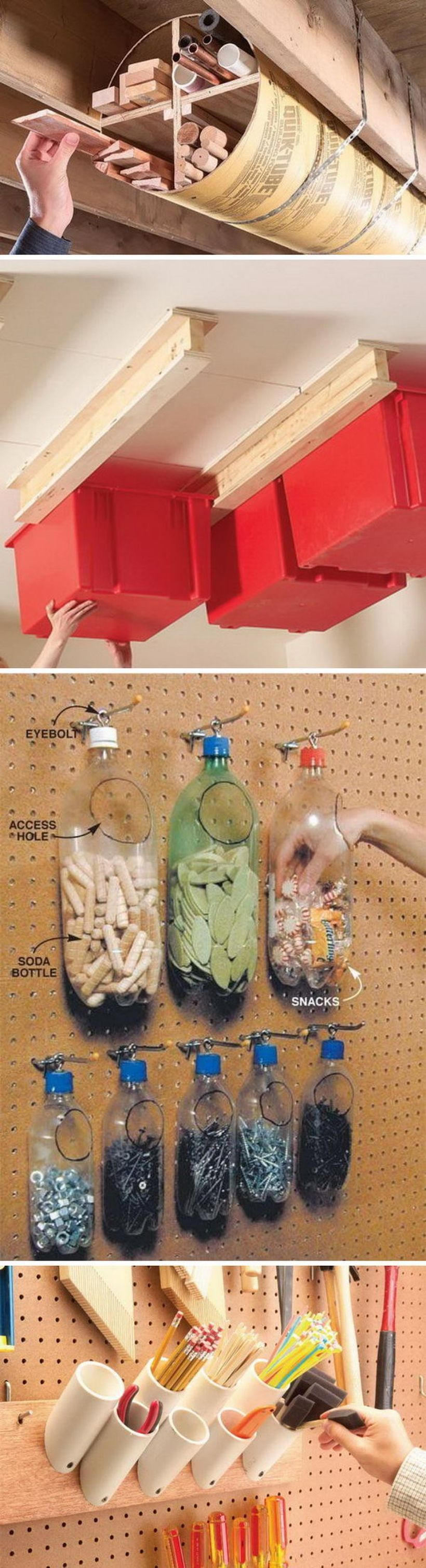 Creative hacks tips for garage storage and organizations