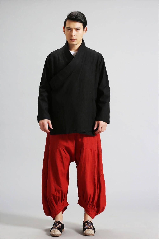 Eastern Zen Style Kung Fu Tai Chi Hanfu Zen Clothes Set (Top + Pant) oks3ngS