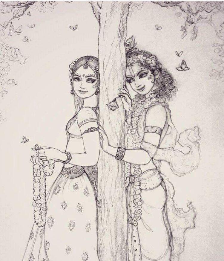 radha krishna sketches raadhe t radha krishna