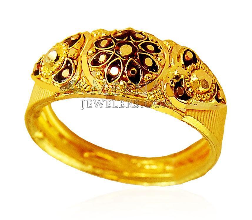 22K Gold Meenakari Ring ( Ladies Gold Ring ) | gold rings ...