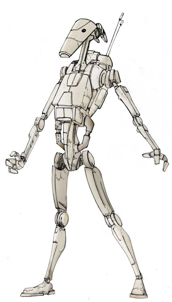 Battle Droid Star Wars In the Works Battle droid