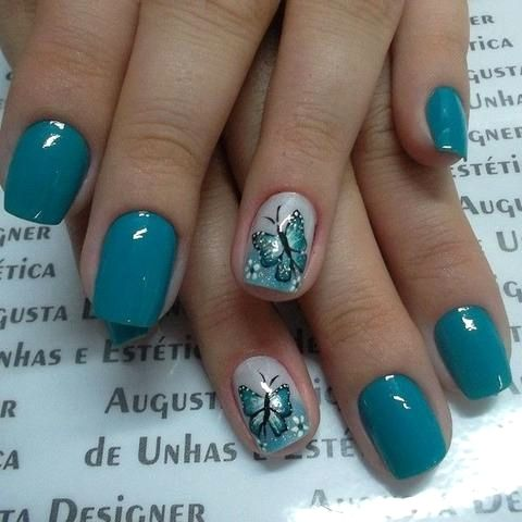 37 cute butterfly nail art designs ideas you should try
