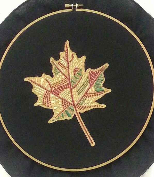 Machine Embroidered Hoop Wall Art. See my post at INEEDleFabric.com