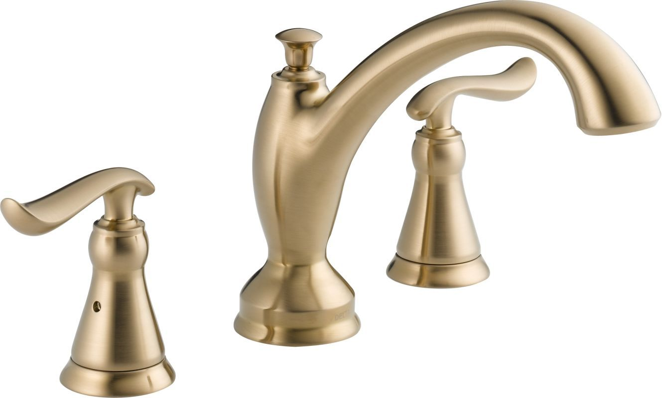 Delta T2793 Linden Two Handle 3 Hole Roman Tub Faucet Roman Tub