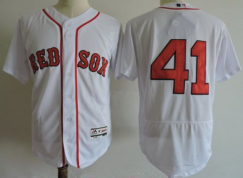 on sale 27df8 a4d30 Men's Boston Red Sox #41 Chris Sale No Name White Home ...