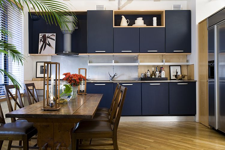 greener pasturesglenn gissler design  navy blue