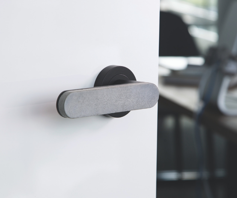Pin By Designer Doorware On Concrete Door Handles Door Handles Toilet Paper Holder Concrete
