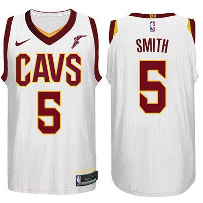 21 Nike NBA Cleveland Cavaliers  5 J.R. Smith White 2017-18 New Season  Jersey 74ee50d42