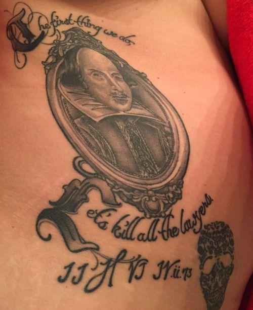 Shakespeare Tattoo By Brandon Evans Of Revolution Ink Pelham Alabama Tatuaje De Escritor Tatuajes Escritores