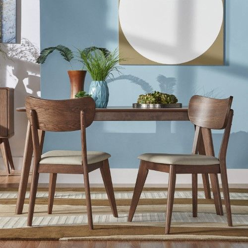 Peachy Chelsea Lane Alden Dining Table Walnut Brown Products Cjindustries Chair Design For Home Cjindustriesco