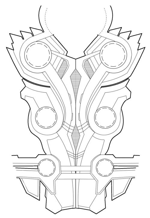 Cosplay References - Thor armor template how to make cosplay