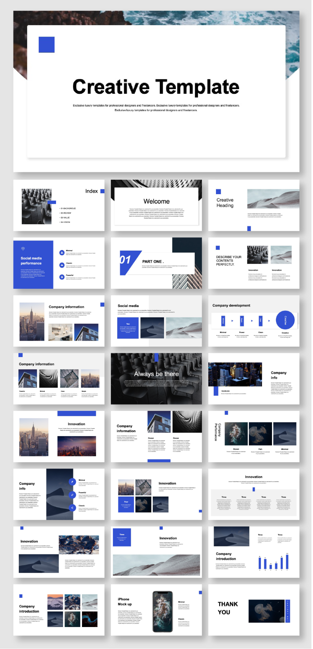A Clean Company Introduction Presentation Template Original And High Quality Powerpoint Templates Powerpoint Presentation Design Powerpoint Design Templates Keynote Design