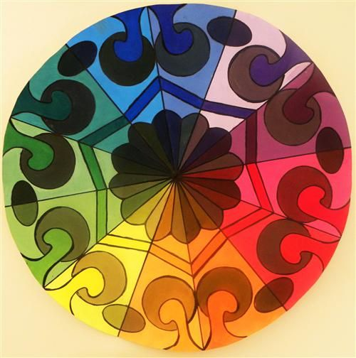 basic color wheel project - Google Search   Painting Class ...