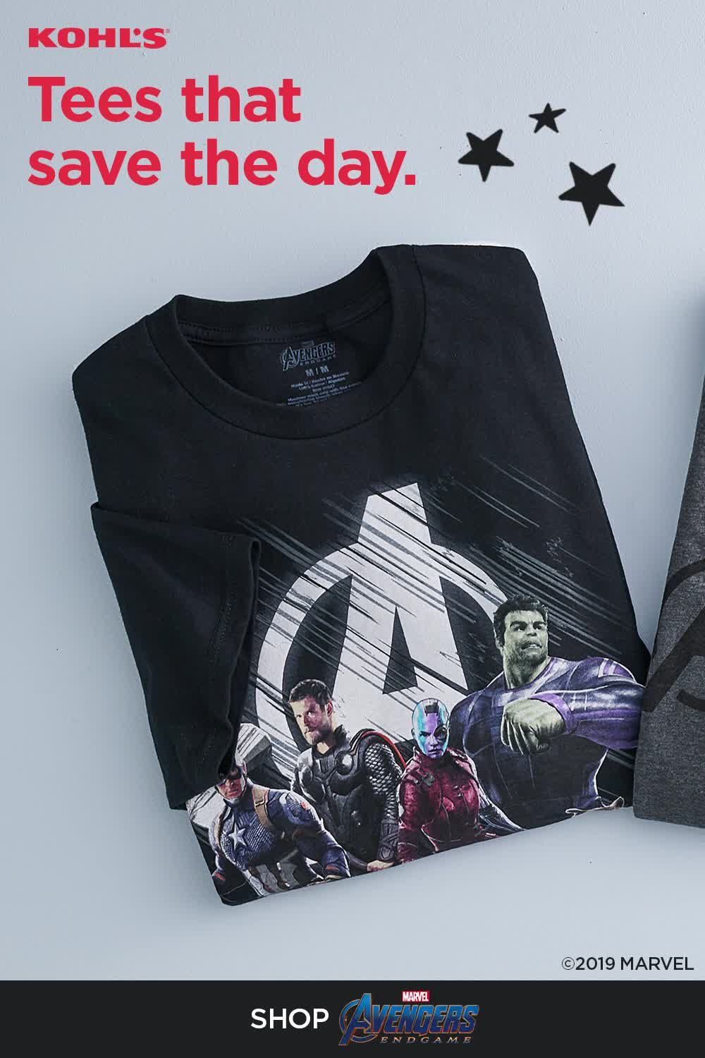 439be3f055d0 Find Marvel Studios' Avengers: Endgame tees at Kohl's. Suit up as your  favorite