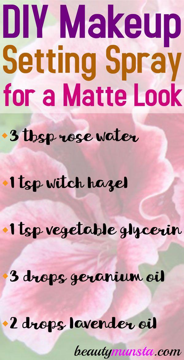 DIY Mattifying Spray - beautymunsta - free natural beauty hacks and more! -   13 makeup DIY hacks ideas