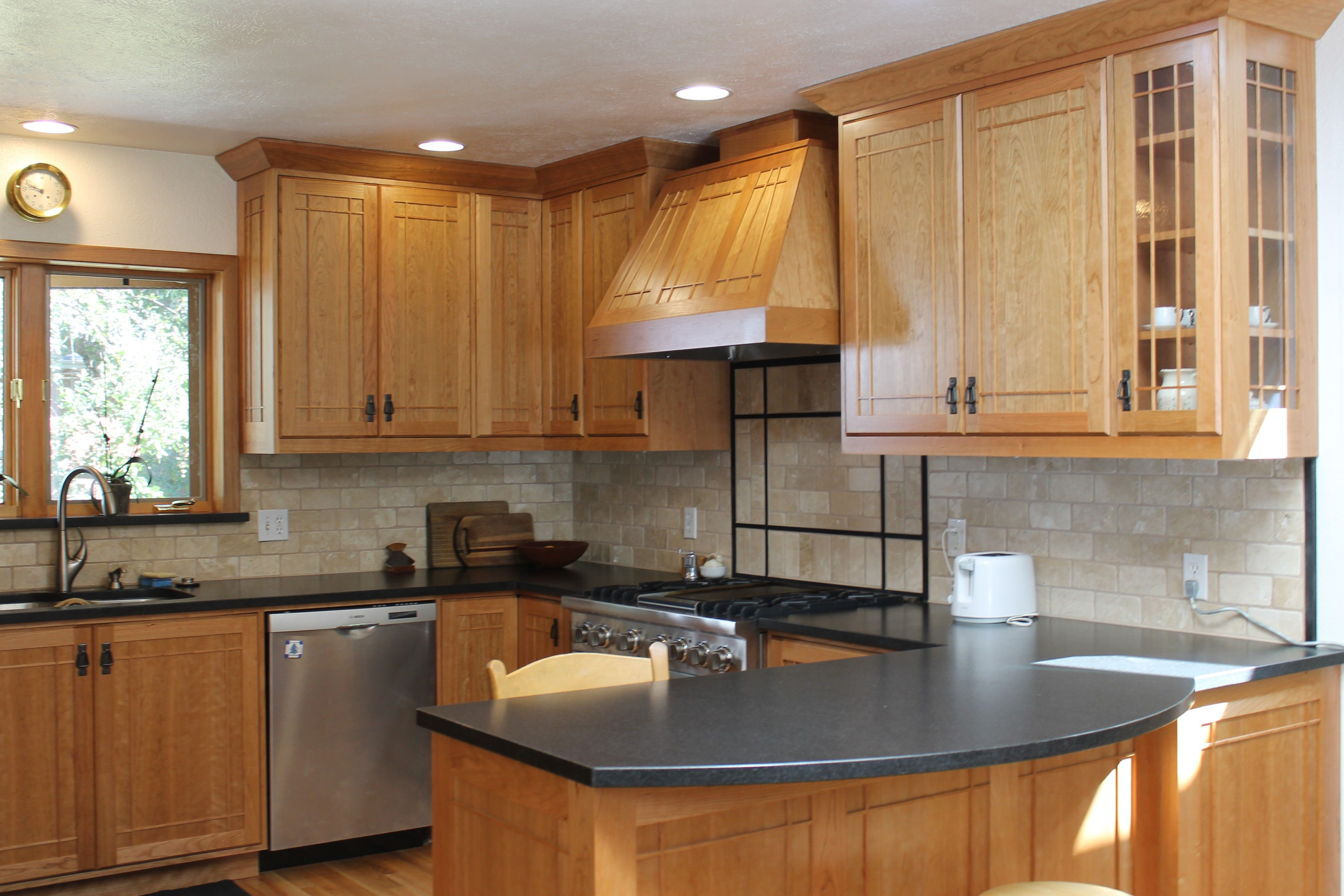 granite countertop colors for light maple cabinets ... on What Color Backsplash With Maple Cabinets  id=20598