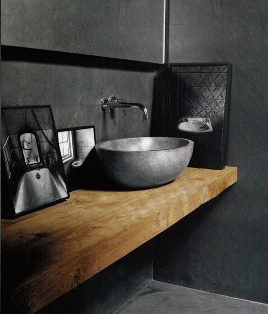 Super mooie waskom. En dat houten blad! :D   badkamer   Pinterest ...