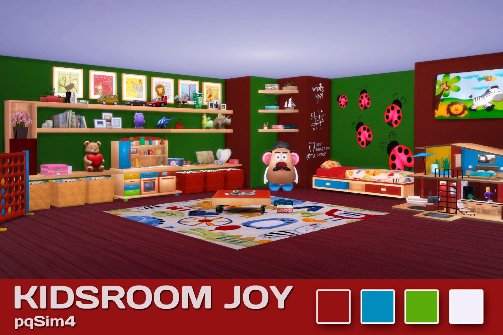 Muebles Sims 4 Sims 4 Kids Room Joy Pqsim4 Cc Sims4 En 2018