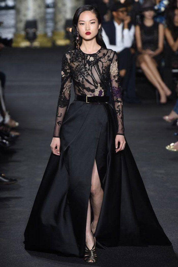 Schwarzes kleid lang schlicht