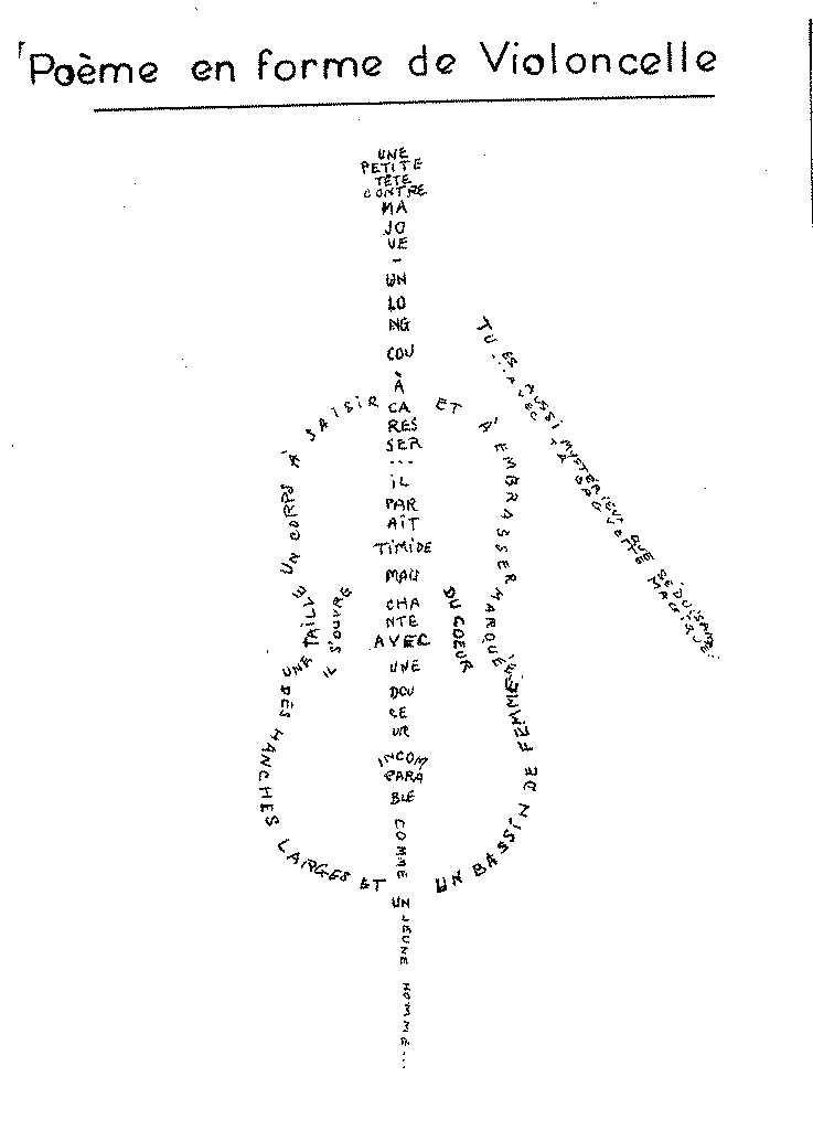 """Résultat de recherche d'images pour """"guillaume apollinaire calligramme"""""""