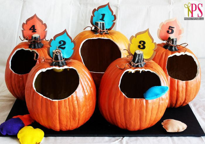 Outstanding Pumpkin Bean Bag Toss Game Fall Festival Games Fall Onthecornerstone Fun Painted Chair Ideas Images Onthecornerstoneorg