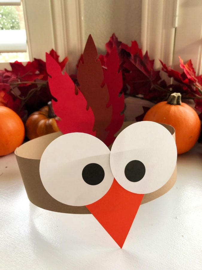 Turkey Paper Headbands for Kids