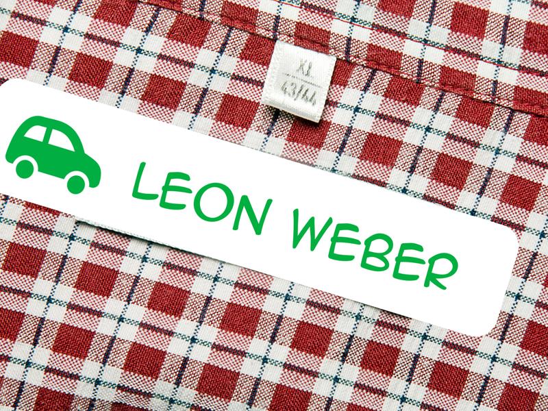100 Wäscheetiketten Bügeletiketten Bügel Etiketten Namensschilder Label