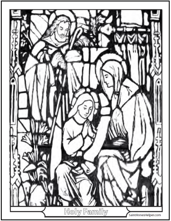 15 Printable Christmas Coloring Pages Jesus Mary Nativity Scenes