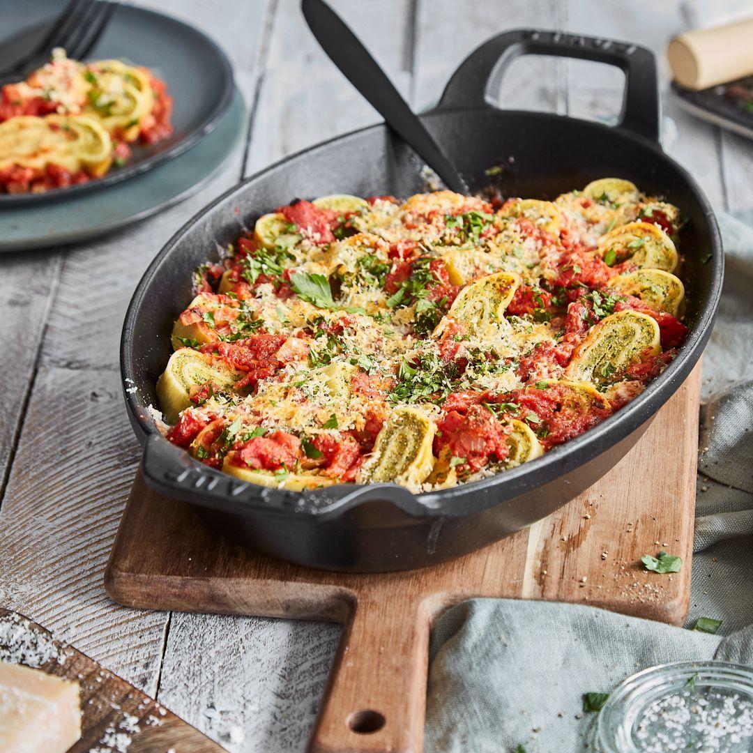 gebratene maultaschen mit tomaten speck und ei rezept