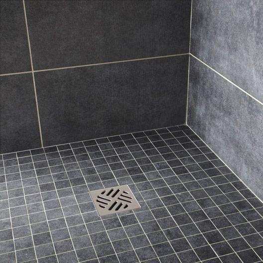 Mosaique Factory Artens Noir 5x5 Cm Avec Images Douche Sur Mesure Carrelage Salle De Bain Carrelage Douche Italienne