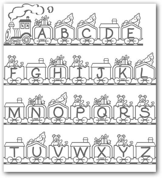 Imágenes del abecedario para colorear | Fotos o Imágenes | Portadas ...
